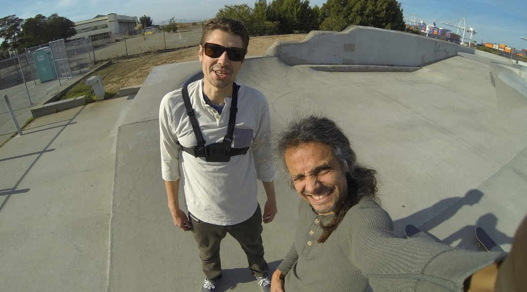me and buddie greg from la testing out the hero3 cam and the chest mount